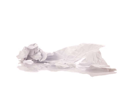 crumpled paper isolated on white background.