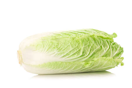 bok choy: fresh chinese cabbage on a white background.