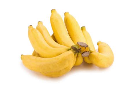 banana skin: bananas isolated on white background.