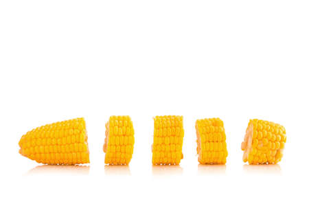 Corn on white background.