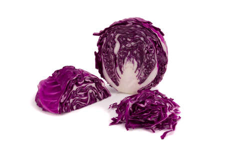 purple cabbage isolated on white.