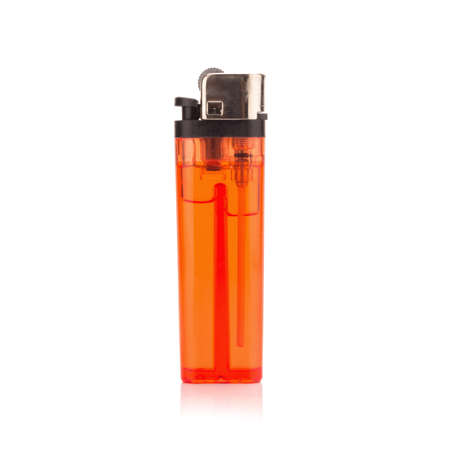 red lighter on white background.