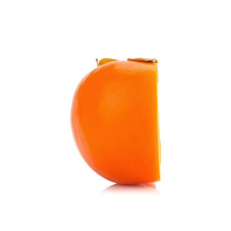 Persimmon fruit isolated on white background. Stock Photo