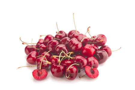 Cherry isolated on white background. Stock Photo