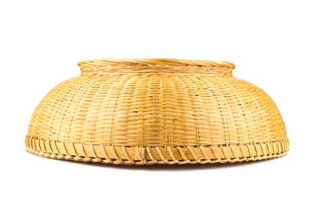 splint: wicker baskets. inverted. isolated on white background. Foto de archivo
