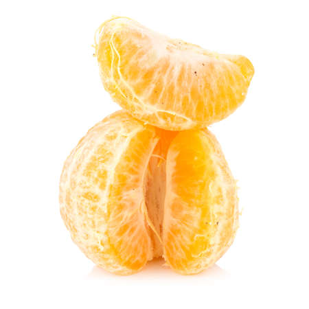 orange. rotten. dirty. ripe. peel. isolated on white background. Stock Photo