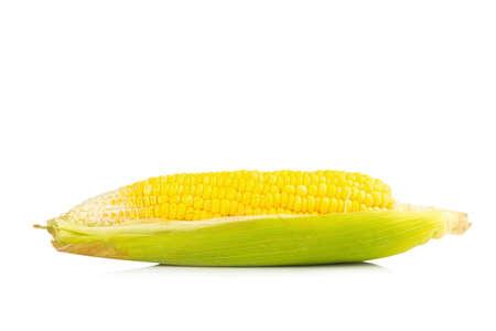 corn fresh isolated on white background. Stock Photo