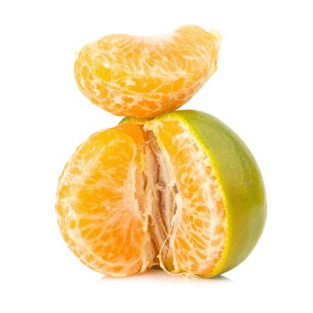tangerine. sweet orange. on white background.