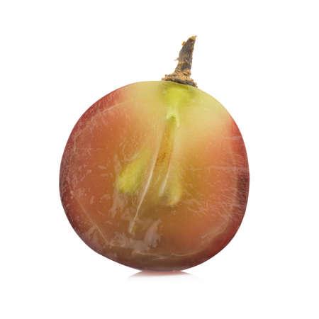 grape half. slice. isolated on  white background.