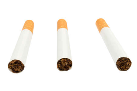 Cigarettes isolated on white background.