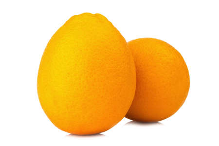 Orange fruit navel isolated on white background.