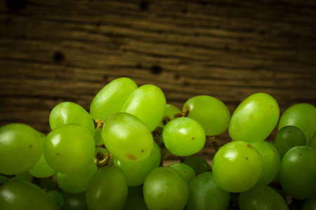 grapes green on old wood.