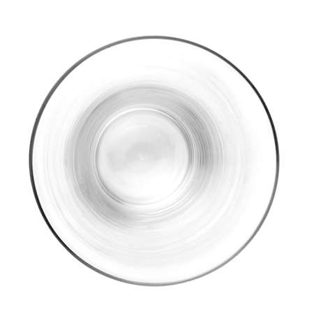 empty beer glass. single. top view isolated on white background. 版權商用圖片