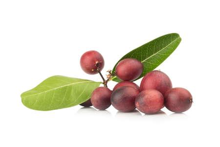 Karonda Fruit ripe isolated on white background. Imagens