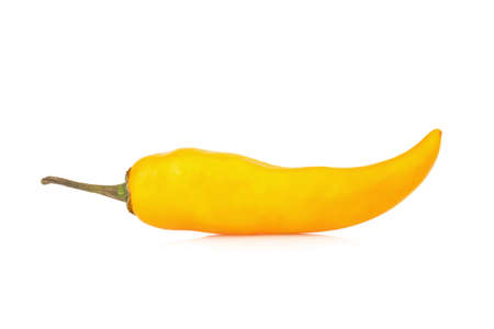 pepper yellow isolated on white background.