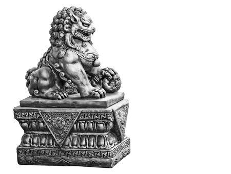 Guardian Lion Foo Fu dog guard. Stone statue
