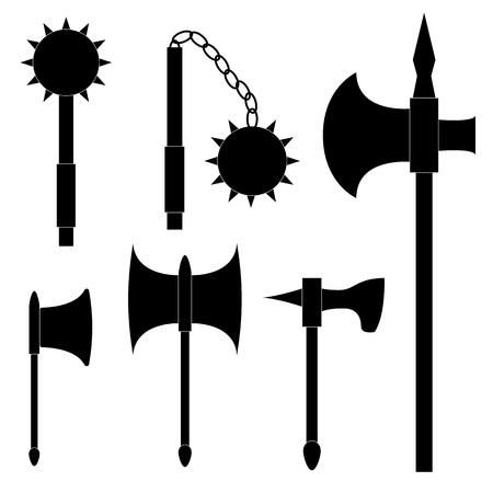 halberd: Set of medieval weapons.