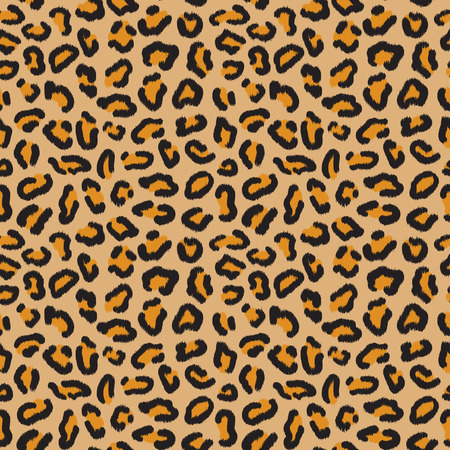 Leopard seamless pattern. Leopard spots. Fashion cheetah print. Popular texture. Vector illustration