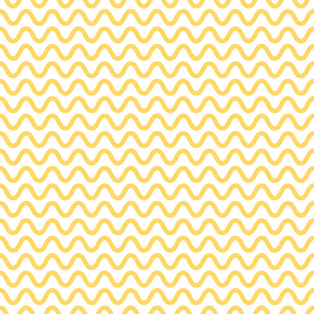 Noodle seamless pattern. Yellow and white waves. Abstract wavy background. Vector illustration.