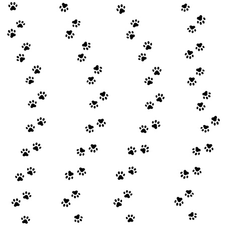 hounds: Animal pattern of paw footprint