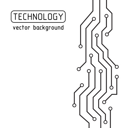 回路基板です。技術のベクトルの背景。抽象的な未来図。ハイテク デジタル概念。  イラスト・ベクター素材