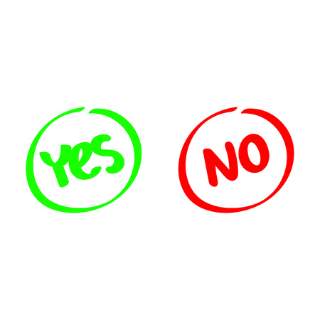 Yes and No, test choice, design illustration. Illustration