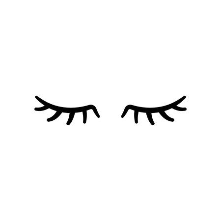 Rzęsy wektorowe. Zamknięte oczy. Ikona wektor ładny design Ilustracje wektorowe