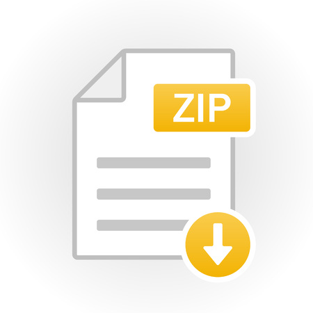 ZIP icon isolated. File format. Vector illustration Ilustracja