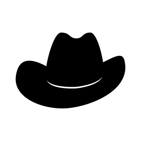 Cowboy hat. Icon isolated on white background. Vector illustration