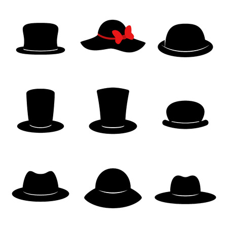 Hat icons vector illustration set Illustration