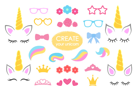 Create your own unicorn big vector collection.