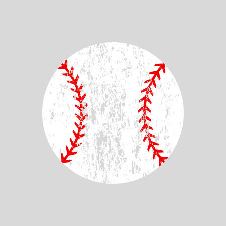 Distressed baseball ball Vector silhouette.