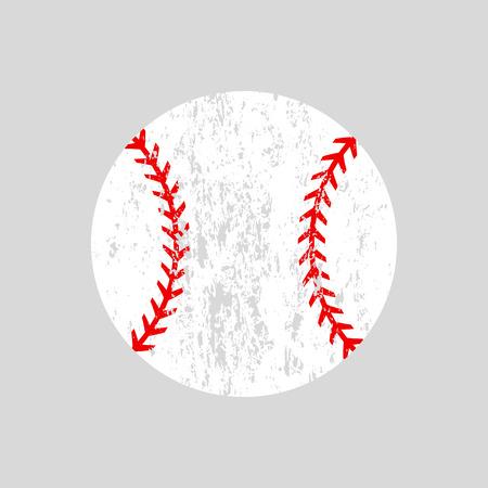 Distressed baseball ball Vector silhouette.