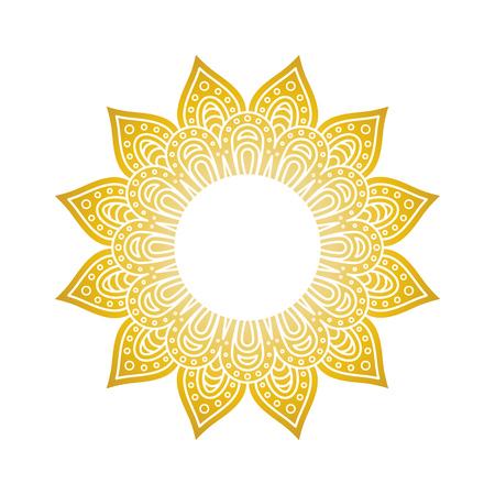 Yellow circlular flower illustration