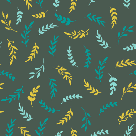 Seamless leaf pattern. Vectore stylish texture with leaves. Floral repeat pattern. Vector illustration