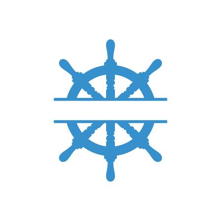 Handwheel icon. Sea steering wheel. Vector illustration isolated on white background