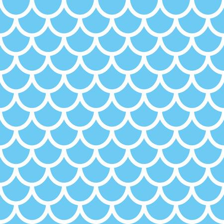 Mermaid seamless pattern. Fish scale background. Blue texture for your design. Vector backdrop. Illusztráció