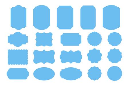Set of geometry banners. Vintage frames. Label templates. Vector illustration Illusztráció