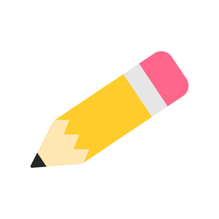 Pencil vector icon. Back to school. Vector illustration isolated on white background.