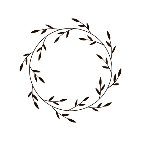 Christmas JOY wreath. Hand drawn vector round frame for invitations, postcards, greeting cards, quotes, logos, posters and more. Vector illustration isolated on white background Stock fotó - 127435381