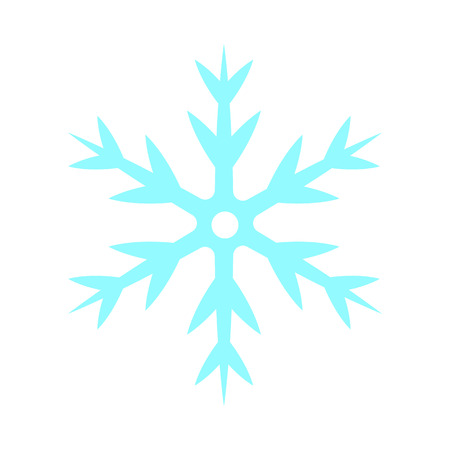 Snowflake - vector icon. Christmas symbol. Winter snowflake isolated on white background. Ilustracja