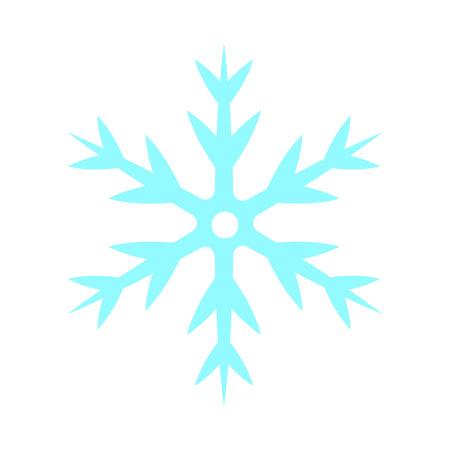 Snowflake - vector icon. Christmas symbol. Winter snowflake isolated on white background. Illustration
