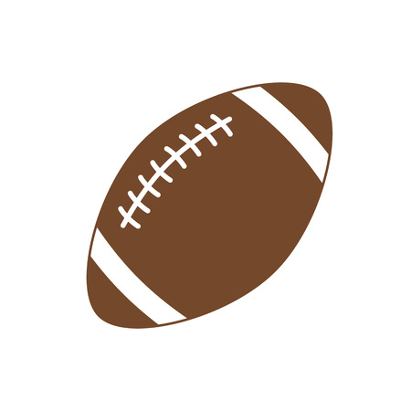 American football. Sport ball for american football. Vector icon isolated on white background. Vector silhouette. Vector illustration in flat style.