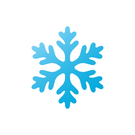 Snowflake - vector icon. Christmas symbol. Winter snowflake isolated on white background. Ilustração