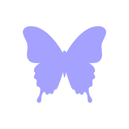 Butterfly silhouette isolated on white background. Butterfly - vector icon. Butterfly design. Vector illustration