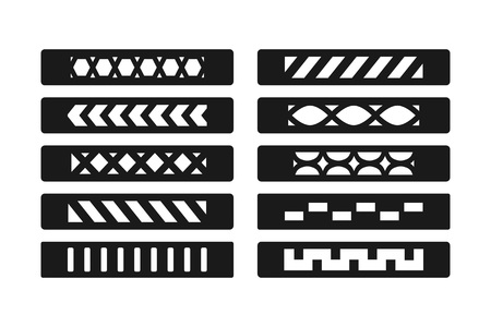 Patterned bracelet template. Template for hand made leather bracelet. Fashion jewelry accessory. Jewelry making. Vector