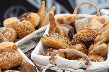 Different types of handmade bread