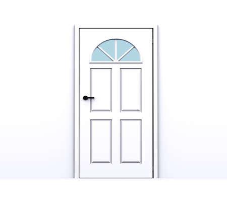 closed white door Stock Photo - 8785460