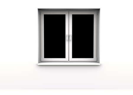 closed window, black background Stock Photo - 8785485