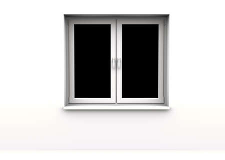 closed window, black background Stock Photo - 8785485